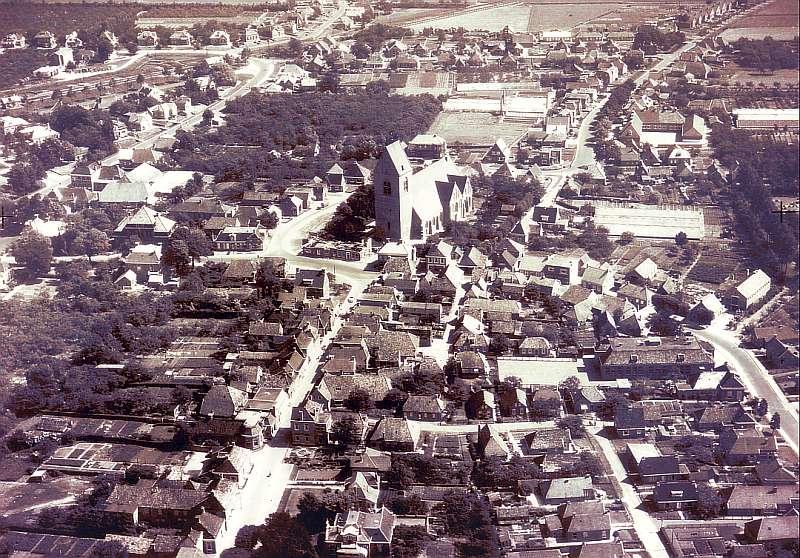 Luchtfoto 1957 Loppersum